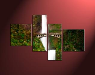 scenery large canvas ,home decor,4 piece canvas art prints, nature canvas print, forest canvas print