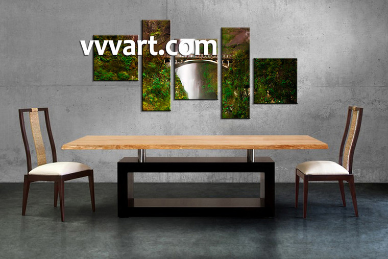forest artwork, dining room art, 5 piece canvas art prints,nature canvas photography, scenery group canvas
