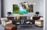 Living Room Wall Art, 4 Piece Wall Art, landscape multi panel art, forest photo canvas, waterfall huge canvas art