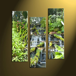 nature multi panel art, home decor, 3 Piece Wall Art, forest multi panel art, scenery canvas art,