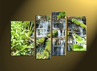 home decor, 4 piece canvas art prints, nature canvas print, forest canvas print, scenery large canvas