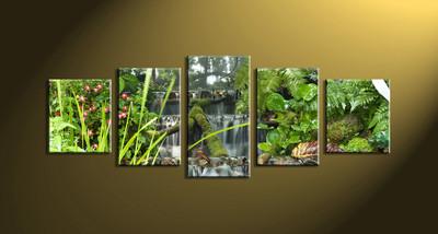 home decor,5 piece canvas art prints, nature canvas print, forest canvas print,  scenery large canvas