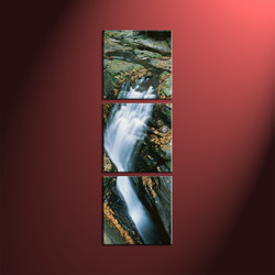 Home Decor, 3 Piece Wall Art, landscape multi panel art, forest large pictures, waterfall artwork