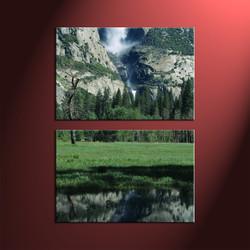 Home decor, forest photo canvas, scenery large canvas, 2 piece canvas art prints, mountain group canvas