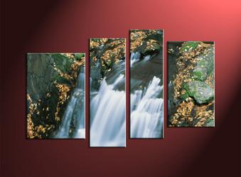 Home Decor, 4 Piece Wall Art, landscape multi panel art, forest wall art, nature art