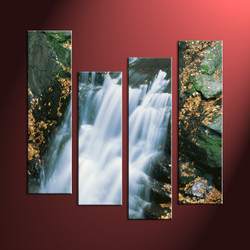 Home Decor, 4 Piece Wall Art, landscape multi panel art, forest wall art, nature wall art