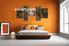 Bedroom canvas wall art, 5 piece canvas art prints, landscape art, forest artwork, waterfall wall art