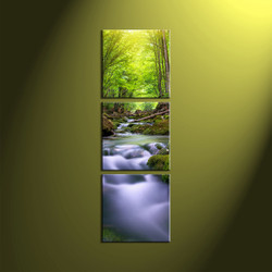 home decor, 3 Piece Wall Art, forest multi panel art, scenery canvas art, nature group canvas