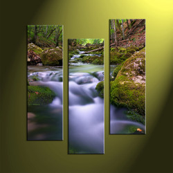 3 Piece Wall Art, home decor, forest multi panel art, scenery canvas art, nature group canvas