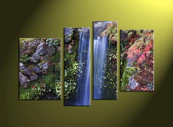Home Decor, 4 Piece Wall Art, landscape multi panel art, forest wall art, nature wall decor
