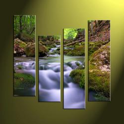 home decor, 4 piece canvas art prints, nature canvas print, forest canvas print,  scenery artwork