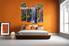 Bedroom Art, 4 piece canvas art prints, scenery canvas print, forest huge canvas art, nature canvas wall art