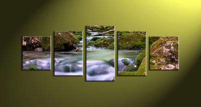 home decor,5 piece canvas art prints, nature canvas print, forest canvas print,  scenery art