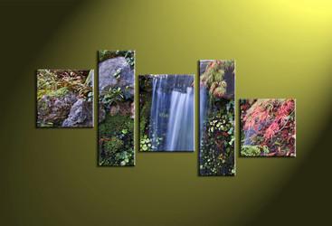 Home Decor, 5 piece canvas art prints, scenery canvas print, forest wall art, nature artwork