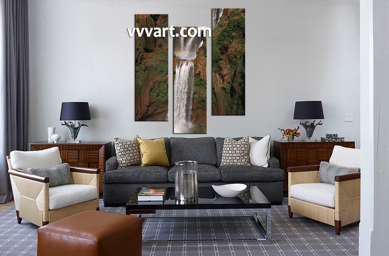 living room artwork, 3 piece canvas art prints , nature canvas print, scenery huge pictures, forest wall art