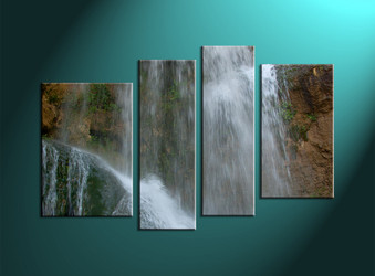 home décor,4 piece canvas art prints, nature canvas print, waterfall canvas print,  scenery large canvas