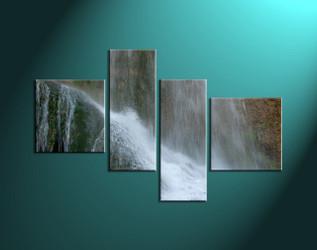 4 piece canvas art prints, nature canvas print, forest canvas print,  scenery large canvas,home décor