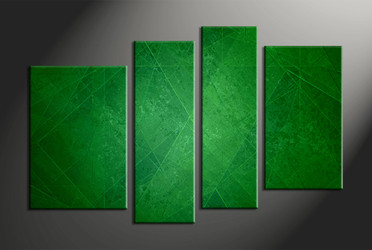Home Decor, 4 piece canvas wall art, abstract multi panel canvas, abstract large pictures, abstract green pictures
