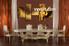 dining room wall decor, 5 Piece Wall Art, gold multi panel art, music artwork, note art