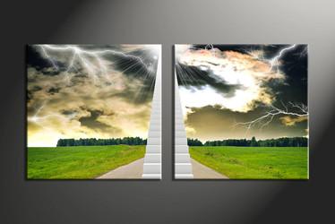 home decor, 2 piece canvas art prints, nature canvas print, forest pictures, scenery large canvas