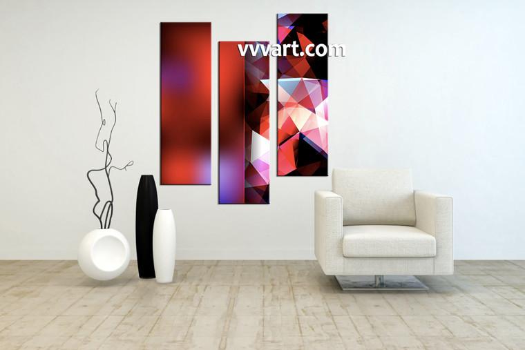 Living Room Wall art, 3 piece canvas wall art, abstract multi panel canvas, abstract group canvas, abstract art