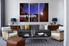 living room art, 3 piece canvas wall art, stars multi panel canvas, mountain wall art, scenery large pictures