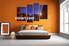 bedroom wall art,4 piece canvas art prints, stars canvas print, mountain artwork, scenery canvas photography