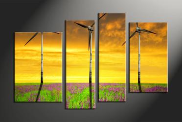 Home Decor, 4 piece canvas wall art, landscape multi panel canvas, landscape group canvas, landscape art