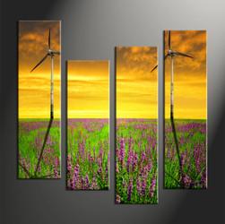 Home Décor, 4 piece canvas wall art,windmill multi panel canvas, windmill group canvas, windmill wall art