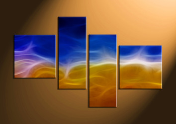 home decor, 4 Piece Wall Art, abstract large canvas , abstract group canvas, abstract wall art