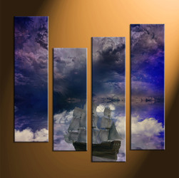 Home Wall Decor, 4 piece canvas art prints, modern canvas print, modern large pictures, modern wall art