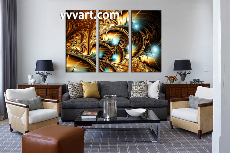 living room wall art, 3 Piece Wall Art, abstract canvas wall art, abstract canvas art prints, abstract large canvas