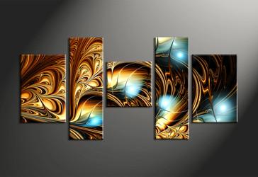 home decor, 5 Piece Wall Art, abstract multi panel art, abstract canvas art prints, abstract artwork
