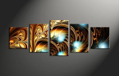 home decor, 5 Piece Wall Art, abstract multi panel art, abstract canvas art prints, abstract canvas photography
