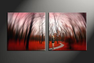 home decor, 2 Piece Wall Art, nature multi panel art, scenery canvas art, forest multi panel art