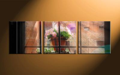 Home Decor, 3 piece canvas art prints, scenery canvas print, floral wall art, floral canvas art prints