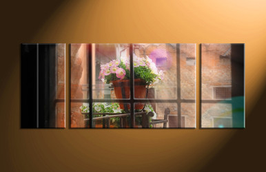 Home Decor, 3 piece canvas art prints, scenery canvas print, flower pot large pictures, floral canvas photography