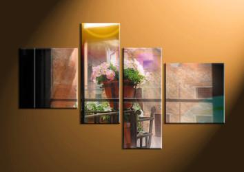 home decor,4 piece canvas art prints, floral large canvas , flower canvas print,  scenery large canvas