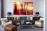 living room art, 3 piece canvas wall art, nature multi panel canvas, autumn wall art, landscape large pictures