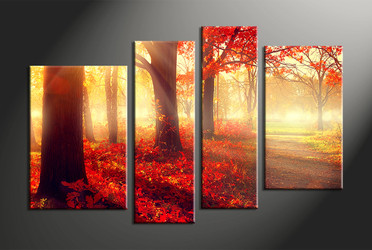 home decor,4 piece canvas art prints, nature canvas print, landscape canvas print,  scenery large canvas