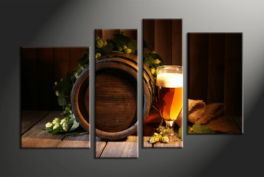 Home Decor, 4 piece canvas art prints, abstract canvas print, wine barrel artwork, abstract huge canvas art