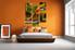 bedroom wall art,3 piece canvas art prints, forest canvas print, parrot artwork, wild canvas photography