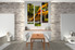 dining room wall decor, 3 Piece Wall Art, parrot multi panel art, forest artwork, wildlife  art