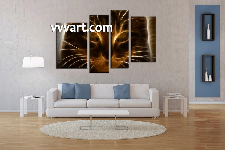 Living Room Wall Decor, 4 piece canvas wall art, abstract canvas photography, abstract artwork, abstract canvas print