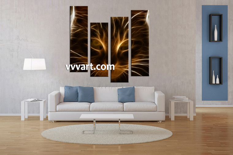 Living Room Wall Art, 4 piece canvas wall art, abstract canvas art prints, abstract art, abstract wall decor