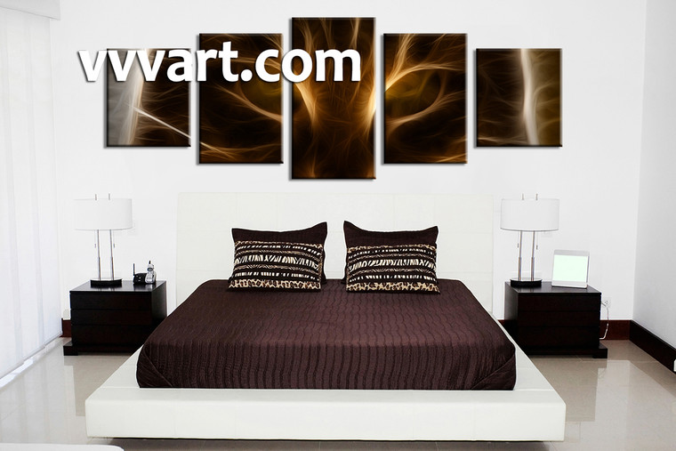Bedroom Wall Art, 5 Piece Wall Art, abstract multi panel art, abstract wall art, abstract art