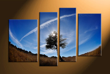 home decor,4 piece canvas art prints, nature canvas print, scenery canvas print,  sunrise large canvas