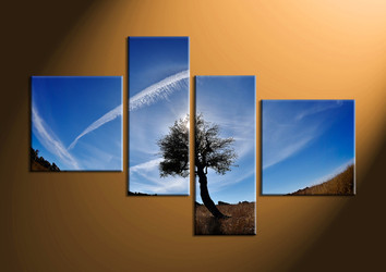 home decor,4 piece canvas print, nature canvas print, scenery large pictures,  sunrise large canvas
