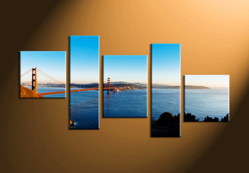 Home Wall Decor, 5 piece wall art, landscape canvas photography, scenery art, scenery wall art