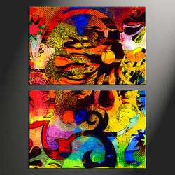Home Decor, 2 piece canvas art prints, abstract canvas print, abstract artwork, abstract art